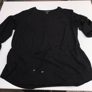 Ralph Lauren women's black top SZ 1X pre owned